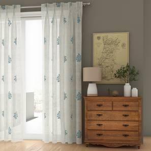 "Jaisalmer Sheer Door Curtains - Set Of 2 (Blue, 112 x 213 cm  (44"" x 84"") Curtain Size) by Urban Ladder - Design 1 Details - 325099"