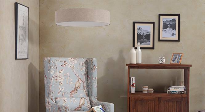 Halo Ceiling Light (Single Arrangement, Natural Linen Shade Finish) by Urban Ladder - - 32512