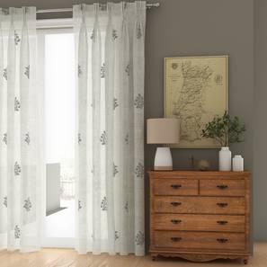 "Jaisalmer Sheer Door Curtains - Set Of 2 (Charcoal, 112 x 274 cm  (44"" x 108"") Curtain Size) by Urban Ladder - Design 1 Details - 325123"