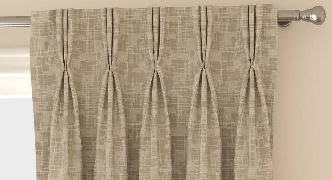 "Arezzo Door Curtains - Set Of 2 (112 x 274 cm  (44"" x 108"") Curtain Size, OYSTER) by Urban Ladder - Front View Design 1 - 325205"