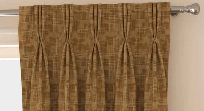 "Arezzo Door Curtains - Set Of 2 (Sand, 112 x 274 cm  (44"" x 108"") Curtain Size) by Urban Ladder - Front View Design 1 - 325243"