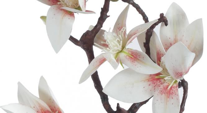 Rosa Artificial Flower (White) by Urban Ladder - Cross View Design 1 - 325461