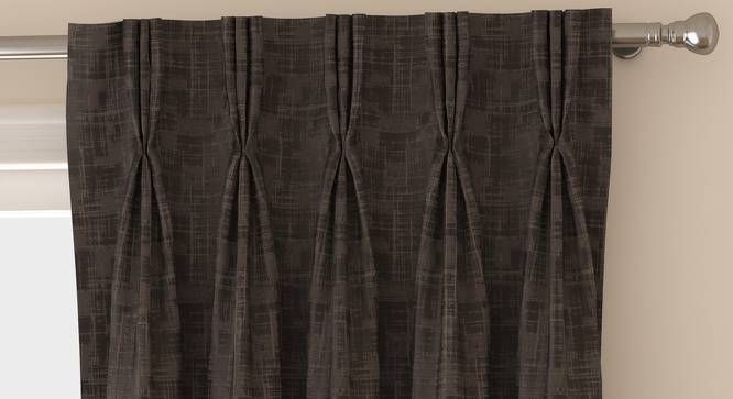 "Arezzo Door Curtains - Set Of 2 (112 x 274 cm  (44"" x 108"") Curtain Size, SLATE) by Urban Ladder - Front View Design 1 - 325492"