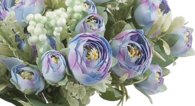 Gray Artificial Flower (Blue) by Urban Ladder - Cross View Design 1 - 325503