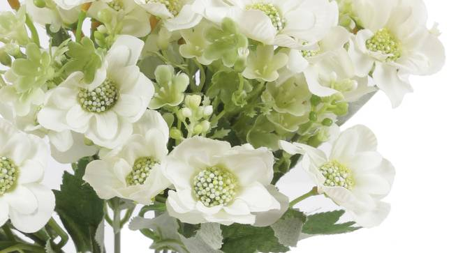 Janice Artificial Flower (White) by Urban Ladder - Cross View Design 1 - 325535