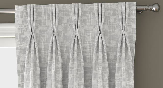 "Arezzo Door Curtains - Set Of 2 (White, 112 x 213 cm  (44"" x 84"") Curtain Size) by Urban Ladder - Front View Design 1 - 325575"