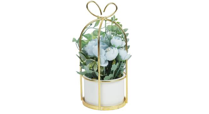 Morris Artificial Plant With Pot (Blue) by Urban Ladder - Front View Design 1 - 325769