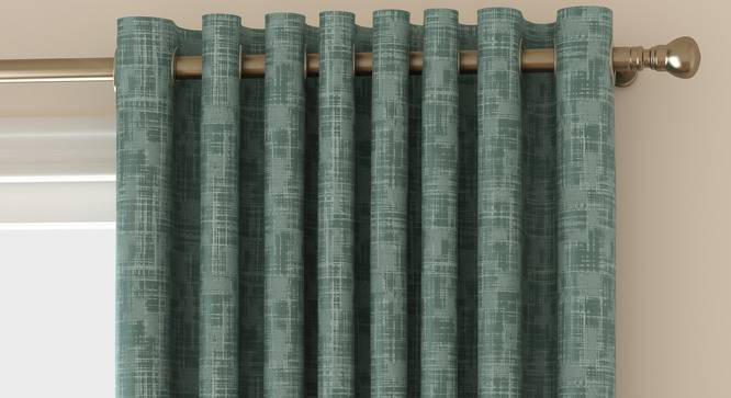 "Arezzo Door Curtains - Set Of 2 (Aqua, 112 x 274 cm  (44"" x 108"") Curtain Size) by Urban Ladder - Front View Design 1 - 325822"