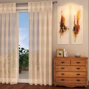 Roma sheer window curtains   set of 2 cream 5 ft lp