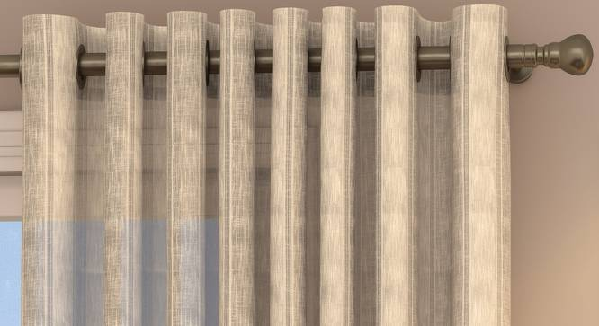 "Rustic Sheer Door Curtains - Set Of 2 (Cream, 112 x 213 cm  (44"" x 84"") Curtain Size) by Urban Ladder - Design 1 Top Image - 325856"