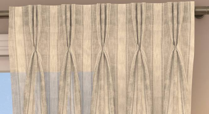 """Rustic Sheer Window Curtains - Set Of 2 (Cream, 112 x 152 cm  (44"""" x 60"""") Curtain Size) by Urban Ladder - Design 1 Top Image - 325862"""
