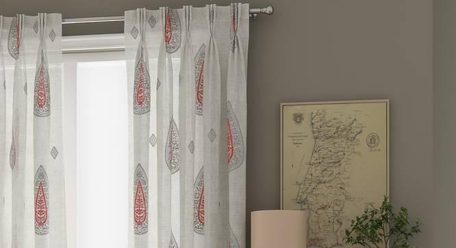 "Sahara Window Curtains - Set Of 2 (112 x 152 cm  (44"" x 60"") Curtain Size) by Urban Ladder - Design 1 Full View - 325867"