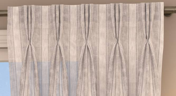 "Rustic Sheer Door Curtains - Set Of 2 (Ivory, 112 x 274 cm  (44"" x 108"") Curtain Size) by Urban Ladder - Design 1 Top Image - 325881"