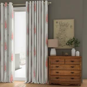 "Sahara Sheer Window Curtains - Set Of 2 (112 x 152 cm  (44"" x 60"") Curtain Size) by Urban Ladder - Design 1 Full View - 325890"