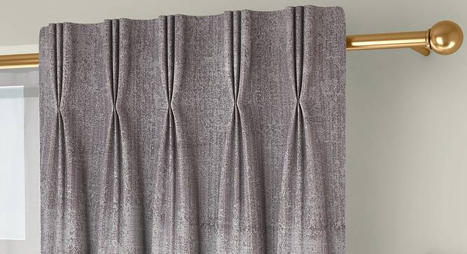 """Simone Door Curtains - Set Of 2 (Grey, 112 x 213 cm  (44"""" x 84"""") Curtain Size) by Urban Ladder - Design 1 Top Image - 325975"""