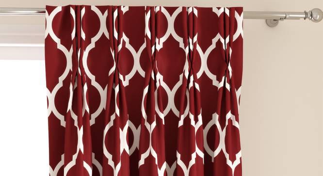 "Taj Door Curtains - Set Of 2 (Brick Red, 112 x 274 cm  (44"" x 108"") Curtain Size) by Urban Ladder - Design 1 Top Image - 326023"