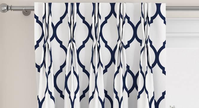 "Taj Door Curtains - Set Of 2 (Indigo, 112 x 274 cm  (44"" x 108"") Curtain Size) by Urban Ladder - Design 1 Top Image - 326071"