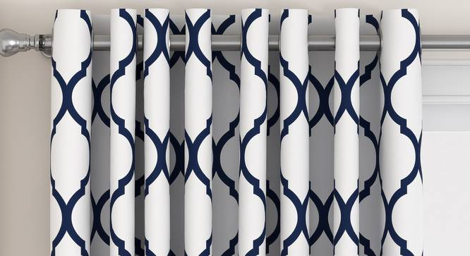 "Taj Window Curtains - Set Of 2 (Indigo, 112 x 152 cm  (44"" x 60"") Curtain Size) by Urban Ladder - Design 1 Top Image - 326077"