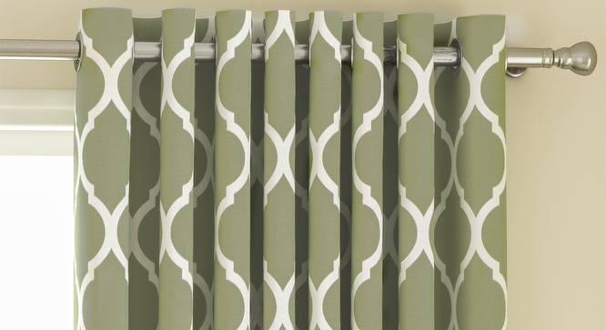 "Taj Door Curtains - Set Of 2 (112 x 213 cm  (44"" x 84"") Curtain Size, Light Green) by Urban Ladder - Design 1 Top Image - 326101"