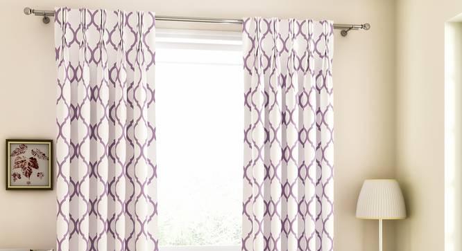 "Taj Door Curtains - Set Of 2 (Purple, 112 x 213 cm  (44"" x 84"") Curtain Size) by Urban Ladder - Design 1 Full View - 326118"