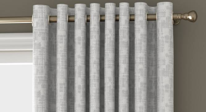 """Arezzo Window Curtains - Set Of 2 (White, 112 x 152 cm  (44"""" x 60"""") Curtain Size) by Urban Ladder - Front View Design 1 - 326167"""