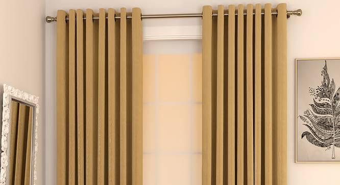 "Matka Door Curtains - Set Of 2 (Beige, 112 x 213 cm  (44"" x 84"") Curtain Size) by Urban Ladder - Design 1 Full View - 326172"