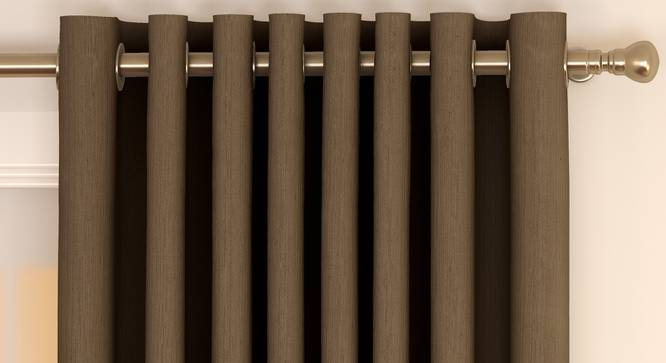 "Matka Door Curtains - Set Of 2 (Coffee, 112 x 213 cm  (44"" x 84"") Curtain Size) by Urban Ladder - Front View Design 1 - 326203"