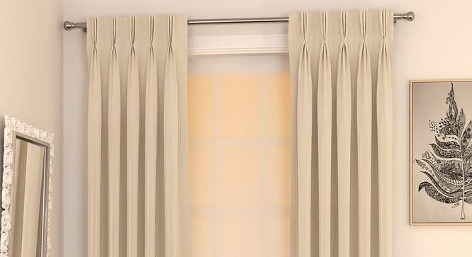 "Matka Door Curtains - Set Of 2 (Cream, 112 x 213 cm  (44"" x 84"") Curtain Size) by Urban Ladder - Design 1 Full View - 326207"