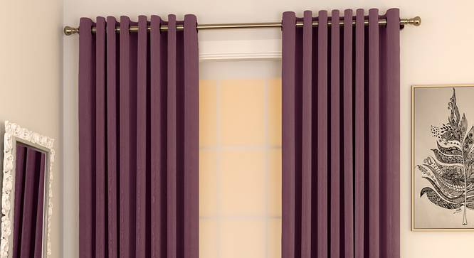 "Matka Door Curtains - Set Of 2 (Grape, 112 x 213 cm  (44"" x 84"") Curtain Size) by Urban Ladder - Design 1 Full View - 326244"