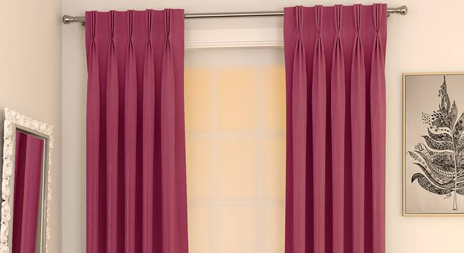 "Matka Door Curtains - Set Of 2 (Magenta, 112 x 213 cm  (44"" x 84"") Curtain Size) by Urban Ladder - Design 1 Full View - 326286"