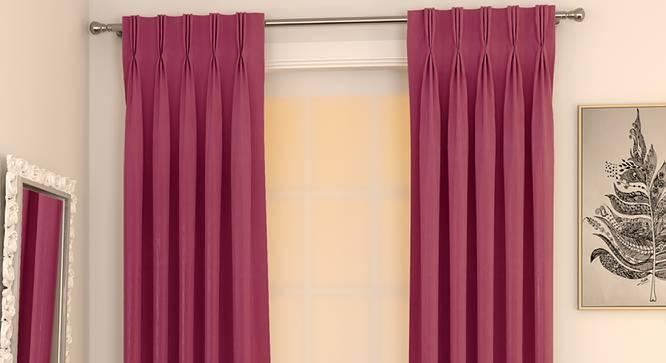 "Matka Door Curtains - Set Of 2 (Magenta, 112 x 213 cm  (44"" x 84"") Curtain Size) by Urban Ladder - Design 1 Full View - 326286"