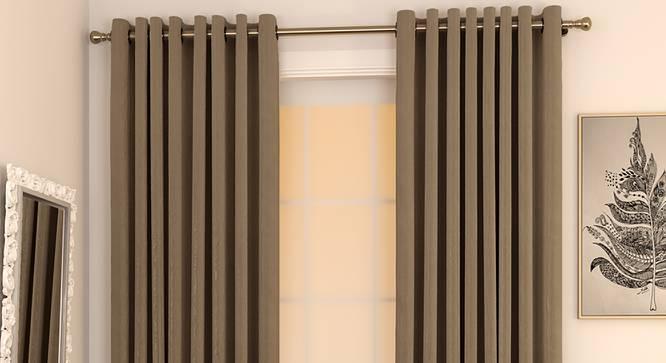 "Matka Door Curtains - Set Of 2 (Mocha, 112 x 213 cm  (44"" x 84"") Curtain Size) by Urban Ladder - Design 1 Full View - 326304"