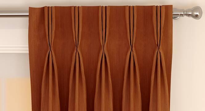 "Matka Door Curtains - Set Of 2 (Orange, 112 x 213 cm  (44"" x 84"") Curtain Size) by Urban Ladder - Front View Design 1 - 326335"
