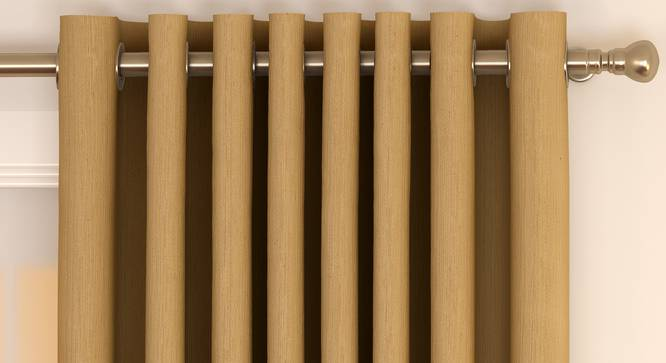 "Matka Door Curtains - Set Of 2 (Beige, 112 x 274 cm  (44"" x 108"") Curtain Size) by Urban Ladder - Front View Design 1 - 326377"