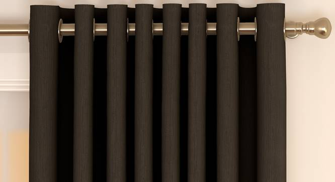"Matka Door Curtains - Set Of 2 (Brown, 112 x 274 cm  (44"" x 108"") Curtain Size) by Urban Ladder - Front View Design 1 - 326388"