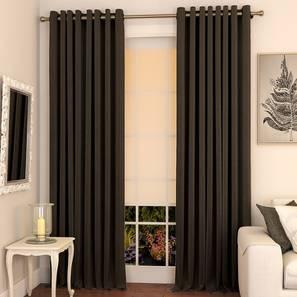 Matka door curtains set of 2 9 brown eyelet lp