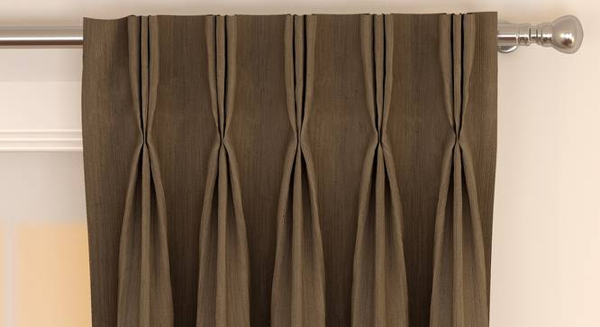 """Matka Door Curtains - Set Of 2 (Coffee, 112 x 274 cm  (44"""" x 108"""") Curtain Size) by Urban Ladder - Front View Design 1 - 326401"""