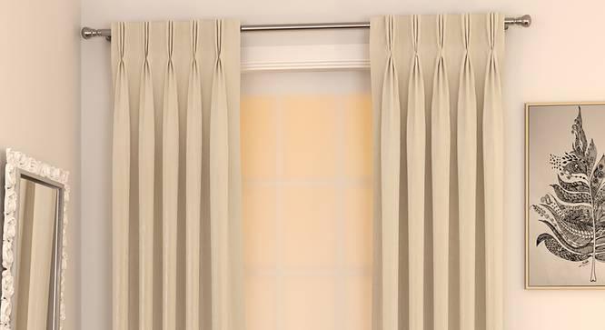 "Matka Door Curtains - Set Of 2 (Cream, 112 x 274 cm  (44"" x 108"") Curtain Size) by Urban Ladder - Design 1 Full View - 326412"
