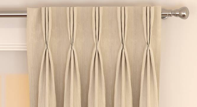 "Matka Door Curtains - Set Of 2 (Cream, 112 x 274 cm  (44"" x 108"") Curtain Size) by Urban Ladder - Front View Design 1 - 326413"