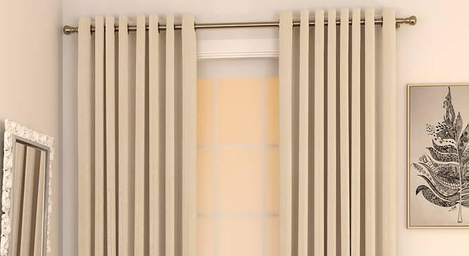 "Matka Door Curtains - Set Of 2 (Cream, 112 x 274 cm  (44"" x 108"") Curtain Size) by Urban Ladder - Design 1 Full View - 326418"
