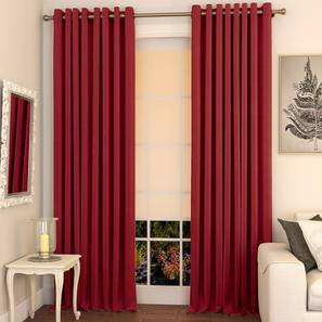 Matka door curtains set of 2 9 crimson red eyelet lp