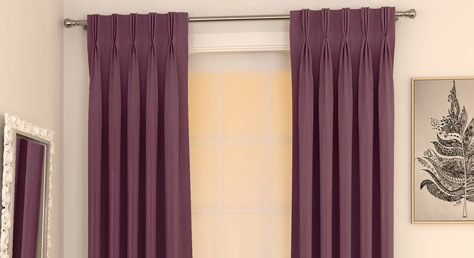 "Matka Door Curtains - Set Of 2 (Grape, 112 x 274 cm  (44"" x 108"") Curtain Size) by Urban Ladder - Design 1 Full View - 326442"
