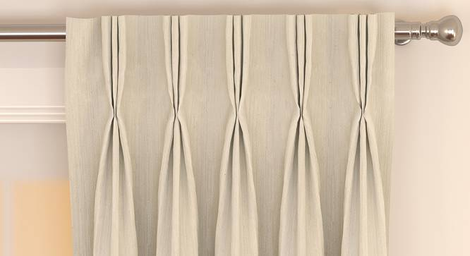 "Matka Door Curtains - Set Of 2 (Ivory, 112 x 274 cm  (44"" x 108"") Curtain Size) by Urban Ladder - Front View Design 1 - 326455"