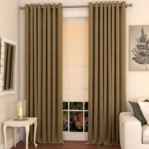 Matka door curtains set of 2 9 khaki eyelet lp
