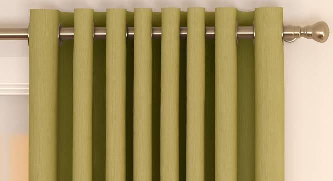"Matka Door Curtains - Set Of 2 (Lime Green, 112 x 274 cm  (44"" x 108"") Curtain Size) by Urban Ladder - Front View Design 1 - 326485"