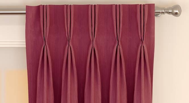 "Matka Door Curtains - Set Of 2 (Magenta, 112 x 274 cm  (44"" x 108"") Curtain Size) by Urban Ladder - Front View Design 1 - 326490"