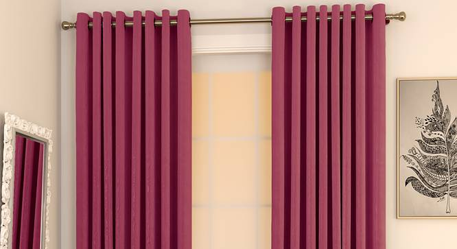 "Matka Door Curtains - Set Of 2 (Magenta, 112 x 274 cm  (44"" x 108"") Curtain Size) by Urban Ladder - Design 1 Full View - 326496"