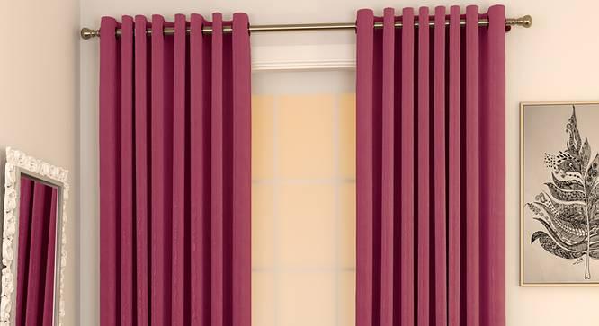 "Matka Door Curtains - Set Of 2 (Magenta, 112 x 274 cm  (44"" x 108"") Curtain Size) by Urban Ladder - Design 1 Full View - 326496"