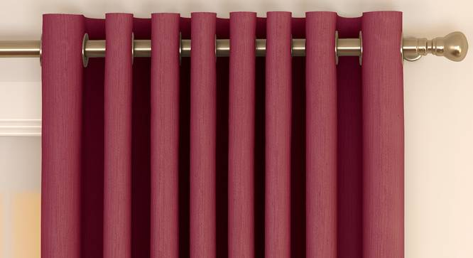 "Matka Door Curtains - Set Of 2 (Magenta, 112 x 274 cm  (44"" x 108"") Curtain Size) by Urban Ladder - Front View Design 1 - 326497"