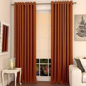 Matka door curtains set of 2 9 orange eyelet lp